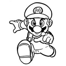 Face To With Mario Coloring Pages