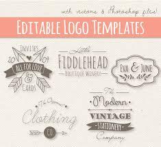 Modern Vintage Style Logo Templates Set 4 Editable