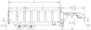 Big Tex Trailers 14GX Heavy Duty Tandem Axle Extra Wide Gooseneck