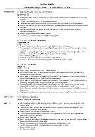 Download Finance Internship Resume Sample As Image File