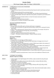 Download Finance Internship Resume Sample As Image File