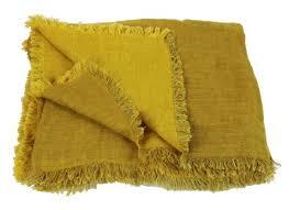 jet de canap jaune plaid canapé jeté de lit et velours 3