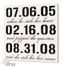 Special Dates Personalized Canvas Wall Art