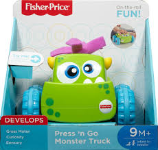 Fisher-Price Press 'n Go Monster Truck - Green - Toys