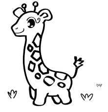Free Coloring Zoo Animals Printable Colouring Pages Baby Giraffe