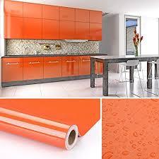 kinlo möbelfolie orangen 61x500cm aus hochwertigem pvc