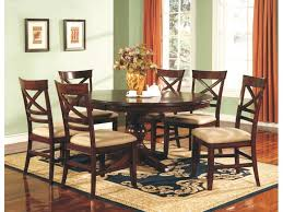 Winners ly Dining Room 66 Inches Topaz Cherry Pedestal Table