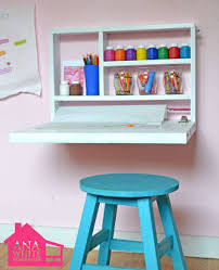 Easel Desk With Stool by Ana White Flip Down Wall Art Desk Diy Projects