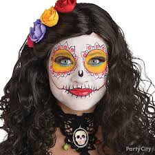 Easy Sugar Skull Day Of by Day Of The Dead Sugar Skull Makeup How To Halloween Makeup And