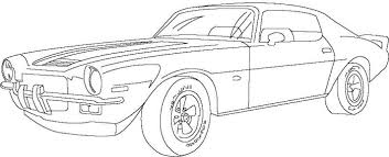 Chevrolet Corvette Classic Cars Coloring Page