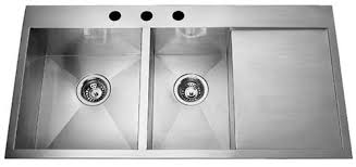 kitchen endearing stainless steel kitchen sinks with drainboard