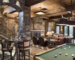 View This Great Rustic Game Room With High Ceiling Columns By Locati Architects Discover Browse Thousands Of Other Home Design Ideas On Zillow Digs