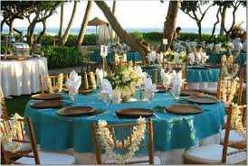 Seashell Wedding Favors On Reception Blue Beach Aqua Tropical Project