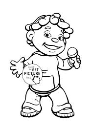 Sid And Microphone Coloring Pages For Kids Printable Free