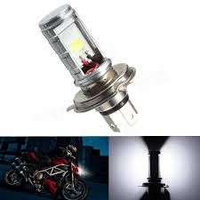 h4 motorcycle 6500k led hi lo beam headlight front light bulb l