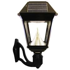 shop gama sonic imperial 2 19 in h led black solar outdoor wall