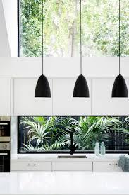 black pendant lighting minimalist kitchen window ideas handleless