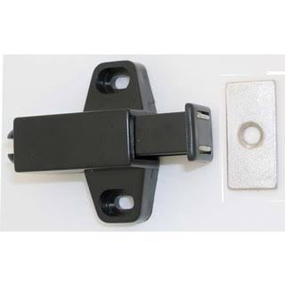 Ultra Hardware 13615 Magnetic Push Latch, Black