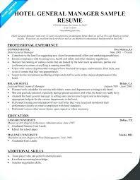Resume For Hotel 3 Manager Sample Receptionist