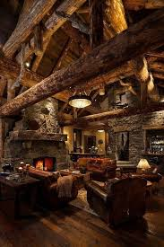 40 Rustic Country Cabin With A Stone Fireplace For Romantic Get Away 18
