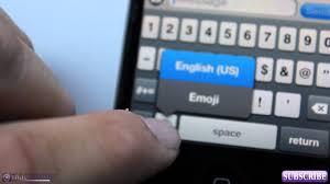 iOS 6 iOS 5 New Features Enable Emoji Keyboard Using
