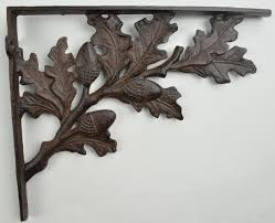 cast iron shelf brackets wall shelf brackets acorn pattern