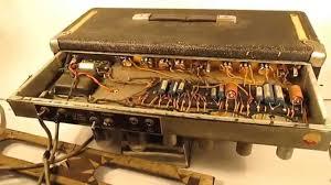 Fender Bassman Cabinet Screws by Opening A Vintage Fender Bassman Amp Head Youtube