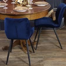 gastro stuhl samt toby dunkelblau cozy interior concepts