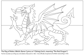Click To See Printable Version Of Flag Wales Coloring Page