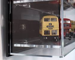 Side Close Up View Of Acrylic Wall Display Case For 176 Scale Model