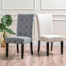 Dining Chairs ~ Padded Dining Room Chairs Dark Blue Fabric Set Of 2 ...