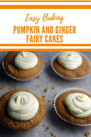 Pumpkin And Ginger Fairy Cakes Fairycakes Halloween Fall Autumn PumpkinCake