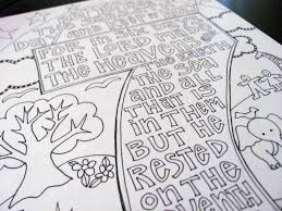 Ten Commandments FREE Printable Coloring Pages