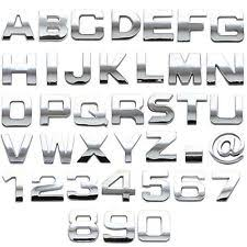 Car Chrome Letters