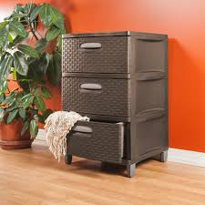 3 Drawer Wicker Chest Walmart by Sterilite 3 Weave Drawer Unit Espresso Walmart Com