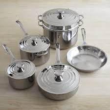 le creuset pots prices le creuset stainless steel 10 cookware set williams sonoma
