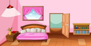 schlafzimmer interieur mit möbeln in rosa farbe thema