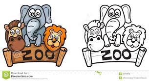 Clipart Black And White Zoo Clipground