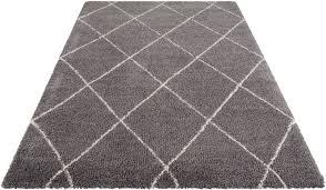 hochflor teppich leonique rechteckig höhe 35 mm rauten design weiche haptik wohnzimmer kaufen otto