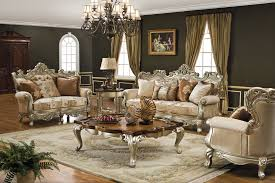 Modern Classic Living Room Design Ideas With Luxury Wood Carved Sofa And Coffee Table On Persian Rug Style