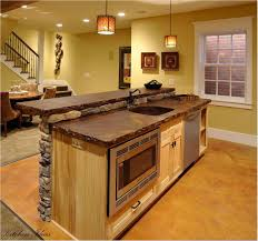 Budget Kitchen Island Ideas by Oak Country Kitchen With Rustic Island Jpg For Country Kitchen