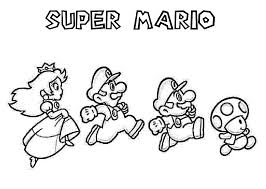 Image Of Coloring Pages Mario