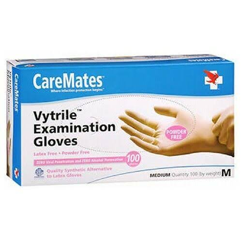 CareMates Vytrile - Powder Free Examination Gloves - Medium, x100