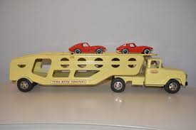 Vintage Tonka Truck Motor Transport Car Carrier With 2 Corvettes ...