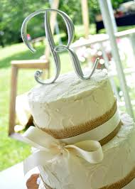Rustic Style Wedding Cake With Burlap And Ivory Ribbon This Was For A Very Special Couple One Of The Most Beautiful Receptions Ive Seen