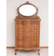 Tiger Oak Dresser With Swivel Mirror by Antique Victorian Oak Chest Of Drawers With Mirror Ebth