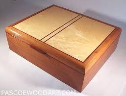 Handmade Wood Keepsake Box Made Of Pearwood And Birds Eye Maple 290