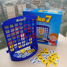 Portable Travel Kids Board Game Educational Math Toys Make 7 Fun Toy Puzzles For Children Christmas