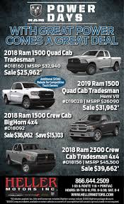 Heller Motors - Ad From 2018-09-15 | Ad Vault | Pantagraph.com Dallas New Used Toyota Tundra Lease Finance Rebates Incentives And Cars Trucks Suvs At American Chevrolet Rated 49 On Everest Lifted Cowboy Up 4western Star Promotions Midway Truck Center Kansas City Missouri 2019 Gmc 2500hd S The Best Car 2017 Chevy Month Discounts Tinney Automotive Greenville Mi Get Huge Savings At Fremont Buick Gmc This January Ram For Sale In Hanna Ab Chrysler Colonial South Is A North Dartmouth Dealer Allnew Ram 1500 Canada Dodge 2016 Find