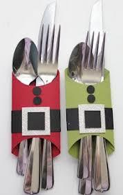 de la déco de noël pour la table à faire soi même couteaux